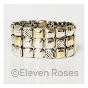 David Yurman Three Row Cushion Chiclet Bracelet
